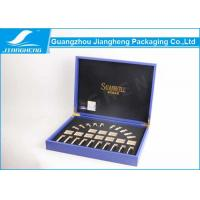 Wholesale Blue Pu Leather Cosmetic Packaging Boxes OEM Logo Luxury Cosmetics Gift Boxes from china suppliers