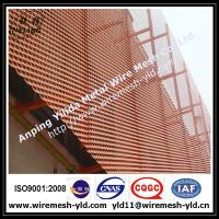 Wholesale Anodized red color aluminum expanded metal for wall facade/cladding 2 from china suppliers