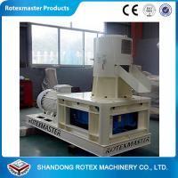 Wholesale 30 / 37kw White Blue Flat Die Wood Pellet Machine , Wood Pellet Production Equipment from china suppliers