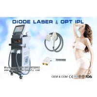 Quality 2 In 1 810nm Diode Laser Hair Removal Machine / OPT SHR IPL Hair Removal Equipment for sale
