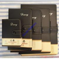 Wholesale A5 Size Leather Diary Personalized Soft Cover Notebook with Button Closure from china suppliers