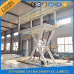 Wholesale 5T 3.6M CE Double Platform Scissor Car Lift Hydraulic Scissor Car Lift for 2 Car from china suppliers