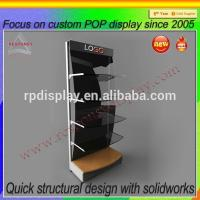 Wholesale Free standing competitive price metal 5 shelf pegboard display stand from china suppliers