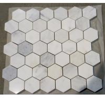 Carrara white hexagon  mosaic tile 3