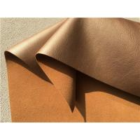 Wholesale Decoration Brown Bonded Leather Fabric 35 Meters Each Roll For Hotel , Indoor from china suppliers