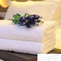 Wholesale White Color Luxury Pure Cotton Bath Towels Home / Hotel Use Soft Touch Azo Free from china suppliers