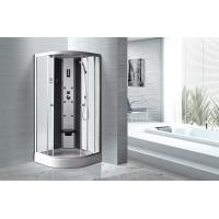Wholesale Matt Silver Profiles Curved Glass Shower Enclosures , Enclosed Shower Cubicles from china suppliers