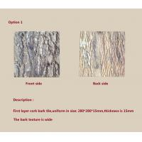 Buy cheap Customized Size Cork Bark tiles,easy for installing from wholesalers