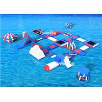 Wholesale Red / White/Blue Color 80 People Large Inflatable Water Park / Aqua Park Equipment For Lake Resort from china suppliers