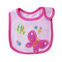 Wholesale Pink Personalised Baby Bib with Butterfly Cartoon for Newborn Baby from china suppliers
