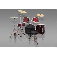 Wholesale Professional PVC 5-PCS Jazz Drum Set for stage  Red Drum Kit from china suppliers