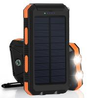 Wholesale Inbuilt Compass 8000mAh Polymer Battery IP67 Waterproof Solar Power Bank for Hiking from china suppliers