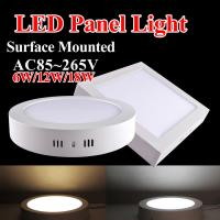 Wholesale Surface Mounted 6w 12w 18w Round/Square LED Panel Light from china suppliers