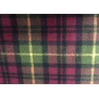 Wholesale Super Soft Woolen Scottish Fabric , Check Upholstery Fabric Warm from china suppliers