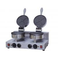 Wholesale Electric Non Stick Cone / Heart Shaped Waffle Maker With Double Head from china suppliers