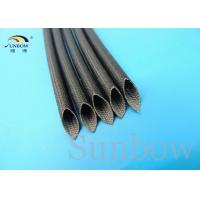 Wholesale Silicone Coated Glass Fibre Sleeving High Temperature Silicone Fiberglass Sleeving 5mm Black from china suppliers