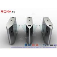 Wholesale Electric 316 SS Security Flap Barrier Gate Turnstile Gate With IR Sensor 13.56mhz Card Reader from china suppliers