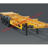 Wholesale High Capacity Tri - Axle 40 Feet Skeleton Semi Truck Trailer Mechanical Suspension from china suppliers