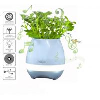 Quality 2017 new products Touching Flower Singing Plant Interaction Bluetooth Speaker LED Smart Music Flowerpot for sale