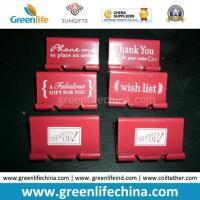 Wholesale Customized White Logo Printing on Red Binder Clip for Promotion from china suppliers