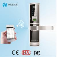 Wholesale Latest  best quality zinc alloy  silvery  smartphone controlled Wifi door lock from china suppliers
