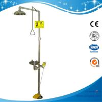 Wholesale SH712BSF-SUS304 stainless steel Pedaled emergency shower & eyewash station combination foot operated eye wash from china suppliers