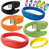 Wholesale High Capacity 16GB USB 2.0 Flash Drive Customize Silicone Bracelets from china suppliers