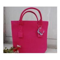 Wholesale New fashion top selling women felt leisurebag/shopping bag/handbag from china suppliers