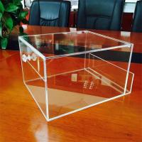 Buy cheap custom handmade clear small acrylic box from wholesalers