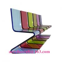 Wholesale Hot sale elegant colored acrylic furniture Z Shape acrylic chair from china suppliers
