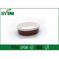 Wholesale Single Wall Paper Ice Cream Cups Disposable , Paper Salad Bowl Customized Printing from china suppliers