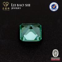 Quality green synthetic spinel square shape #137 spinel loose gemstones for sale