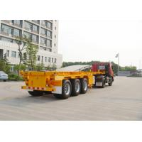 Wholesale Three axles 40ton skeleton semi trailer for container shipping , flat bed trailors from china suppliers