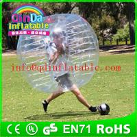 Wholesale QinDa Inflatable TPU/PVC bubble football, soccer bubble,bubble ball for football from china suppliers
