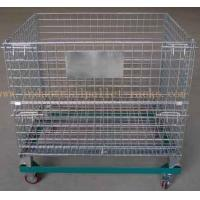 "Wholesale 5"" Casters Removable Wire Mesh Container Storage Cages With Trolley Cars from china suppliers"
