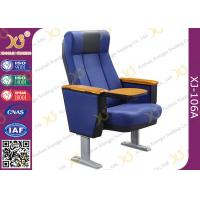 Wholesale Blue Stackable Lecture Hall Chairs For Church Pulpit / Lecture Theatre Seating from china suppliers