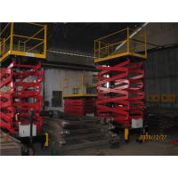 Wholesale Hydraulic Scissor Lift Platform 500 KG 12 meter Driving Wheel from china suppliers