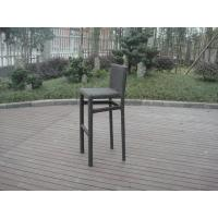 Wholesale Resin Wicker Bar Set With Cushion , Black Bar Table With Glass from china suppliers
