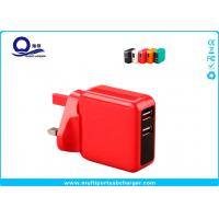 Wholesale Colorful 5V 2.1A Dual USB Travel Wall Charger Universal EU US AU UK Plug from china suppliers