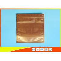 Wholesale Plastic Zipper Coffee Packaging Bags , Three Layer Laminated Aluminium Bag For Tea from china suppliers