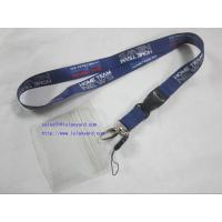 Wholesale ID Badge Card Holder Heat Transfer Lanyard With Cellphone Attachment from china suppliers