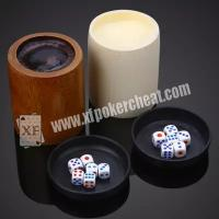 Buy cheap Colorful Gamble Dice / Trick Magic Dice With Radio Wave and Scanning Cup from wholesalers