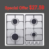 Wholesale Kitchen Four Burner Stainless Steel Gas Cooker Natural Gas OEM / ODM Service from china suppliers