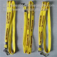 Wholesale 3/8 inch tubular polyester lanyards with metal sheet crimp, custom lanyards cheap prices, from china suppliers