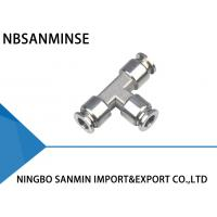 Wholesale SSE Tee Air Hose Quick Coupler Pneumatic Pipe Fitting Excellent Acid Resistant from china suppliers