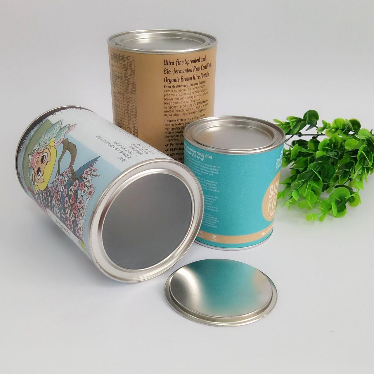 Wholesale Hot Stamping Paper Composite Can Packaging For Chocolate Powder / Coffee Powder / Milk Powder from china suppliers