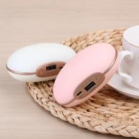 Wholesale Mini pea pocket Hand Heater warmer  With Power Bank Vibration body Massage GK-398 from china suppliers