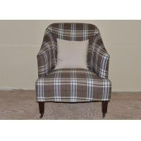 Wholesale Plaid Brown Wooden Chaise Lounge Chair Solid 2 Legs With Caster from china suppliers