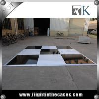 Wholesale Wooden black and white dance floor pvc flooring for dancing portable dance floor craigslist from china suppliers