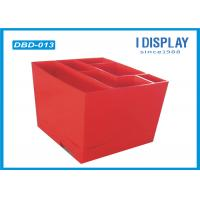 Wholesale Red Cardboard Dump Bins , Corrugated Stationery Display Stands from china suppliers